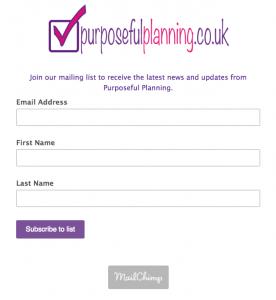 Mailing List Sign Up Image