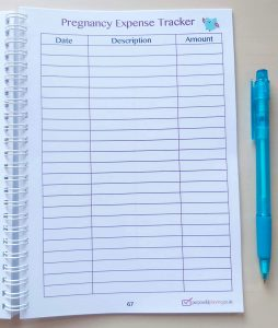 Expense Tracker Pregnancy Diary