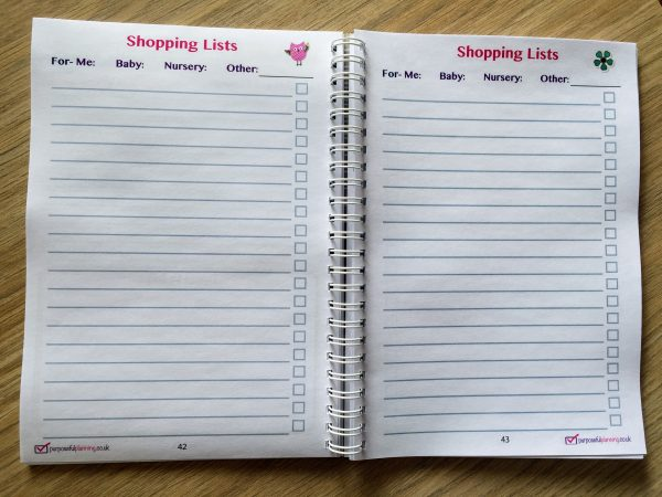 Pregnancy Shopping Lists