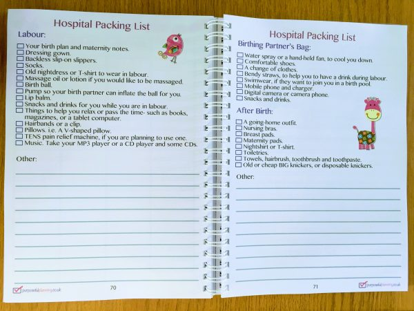 Hospital Packing Pages