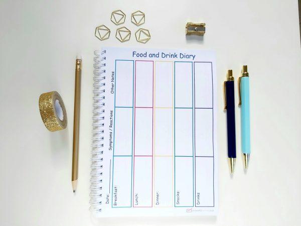 Allergy Diary- Food Drink Diary