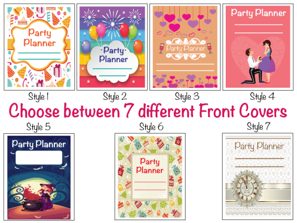 Front Covers for party planners pics