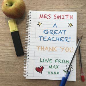 Thank You Teacher Notebook