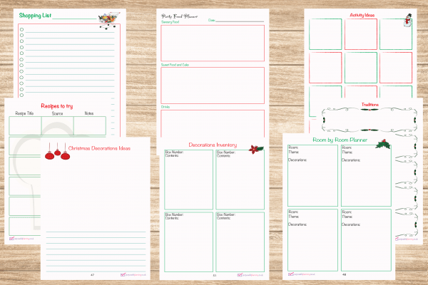 Christmas Planner inside pages 2