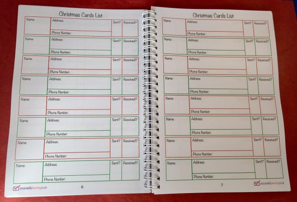 Christmas Cards Lists