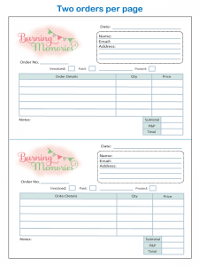 Two order forms per page
