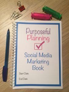 Social Media Marketing Planner Notebook