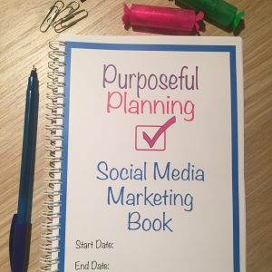 Social Media Marketing Planner Notebook