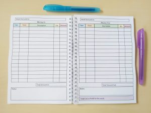 Accounts Book Inside Accounting Pages