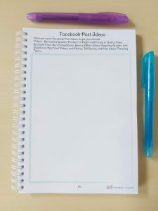 Facebook Post Ideas page