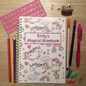 Personalised Unicorn Children's Notebook