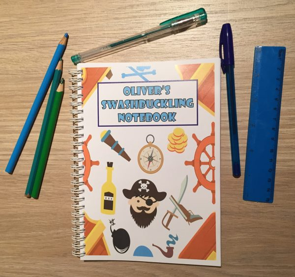 Personalised Pirate Children's Notebook