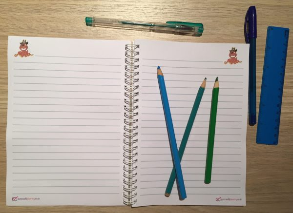 Lined Pirate Notebook Pages