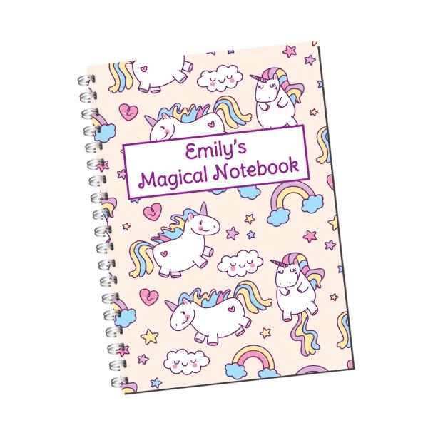Unicorn Children's Notebook Cover