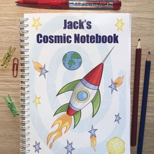 Personalised Space Children's Notebook