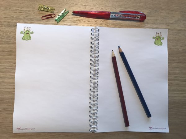 Space Blank Notebook Pages