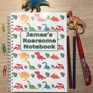 Personalised Dinosaur Children's Notebook
