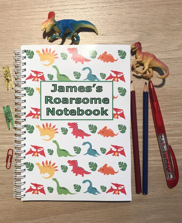 Personalised Dinosaur Children's Notebook