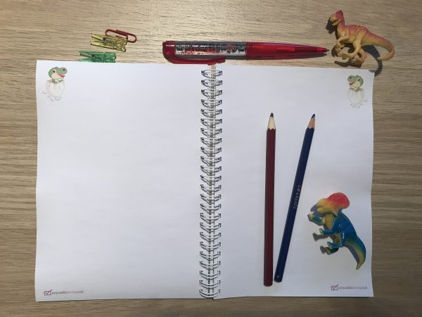 Blank Dinosaur Notebook Pages