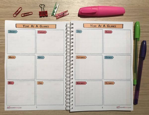 Student Planner Year at a glance