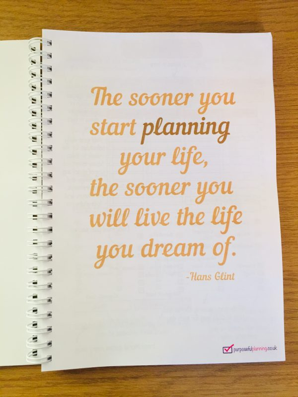 Weekly Life Planner Inspirational Quote