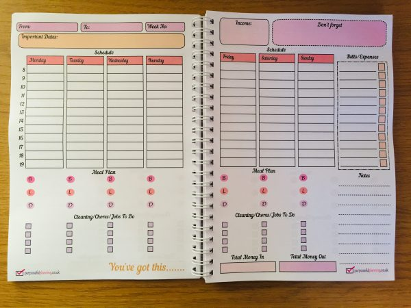 Weekly Life Planner Main Pages