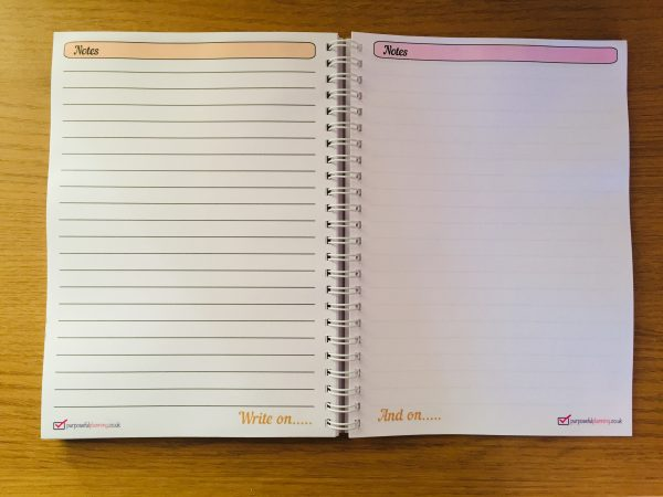 Weekly Life Planner Note Pages