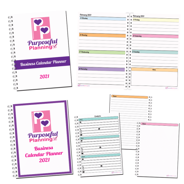 Business Calendar Planner White Background