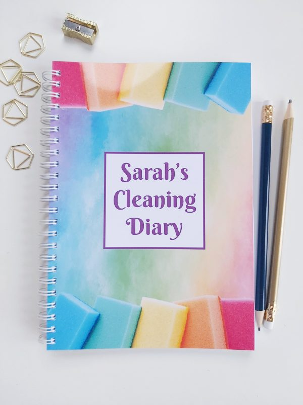 Cleaning Diary Notebook