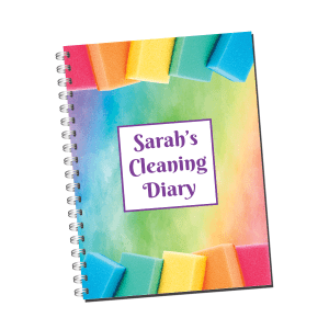 Personalised Cleaning Diary Notebook