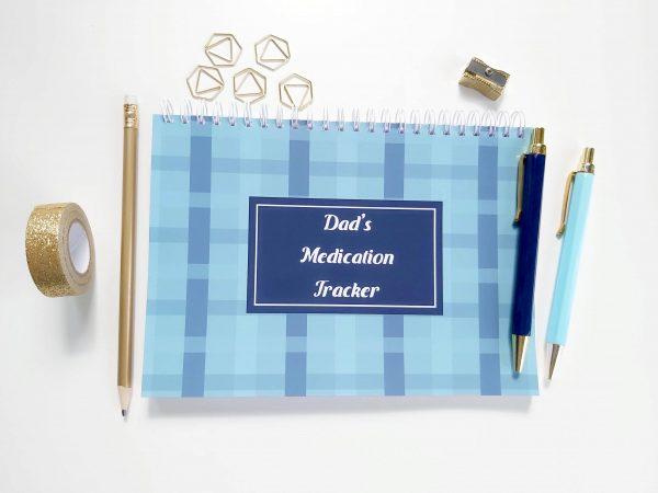 Medication Tracker Notebook Planner cover 2