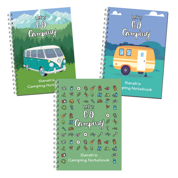 Camping Journal Travel Notebook Front Covers