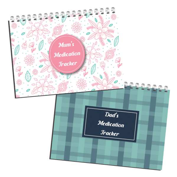 Medication Tracker Notebook Planner covers